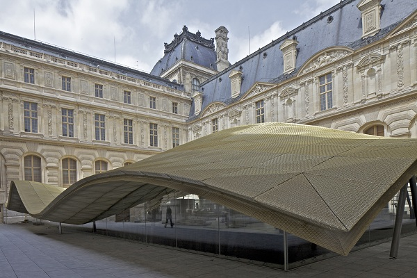 Louvre cour Visconti département des Arts de l'Islam. Architectes : Mario Bellini et Rudy Ricciotti