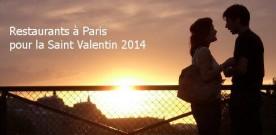 Restaurants parisiens pour la Saint Valentin