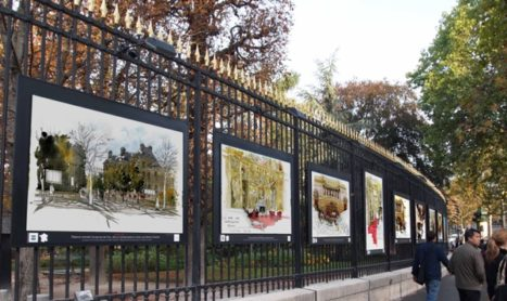 Foto's aan de hekken van het Jardin du Luxembourg