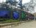 Foto's aan de hekken van het Jardin