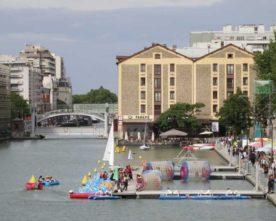 Zwemmen in Bassin de la Villette