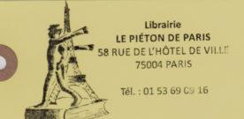Librairie Le Piéton de Paris (4e arr)