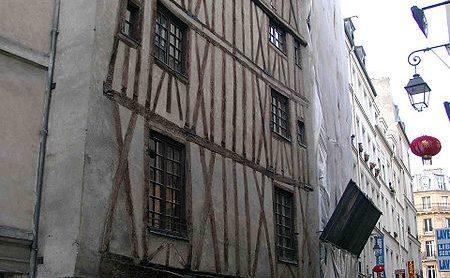 oude huizen in Parijs