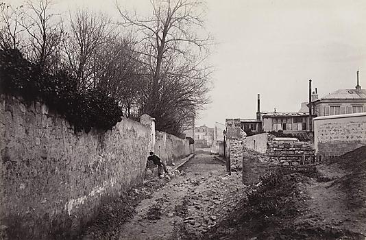 """""""AVENUE DU COMMANDEUR (de la rue d'AlÈsia)"""". Avenue du Commandeur, vue prise de la rue d'AlÈsia, 14Ëme arrondissement, Paris"""
