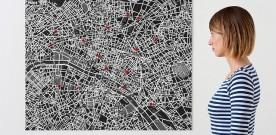 Vilten kaart van Parijs