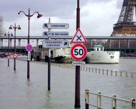 Hoogwater in de Seine