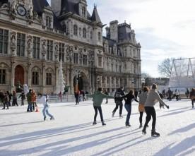 De schaatsbaantjes in Parijs
