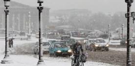 Sneeuw in Parijs